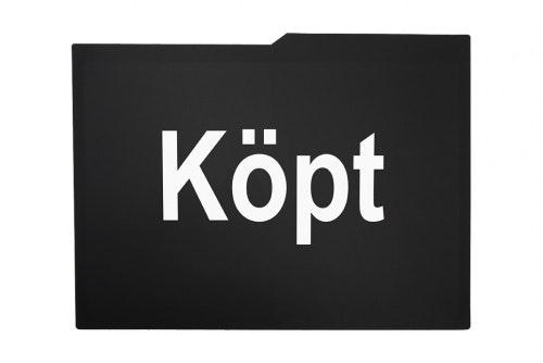 Bildisplayer, svart, 1 farget trykk på 2 sider