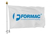 Flagga med kundanpassat 1-färgstryck