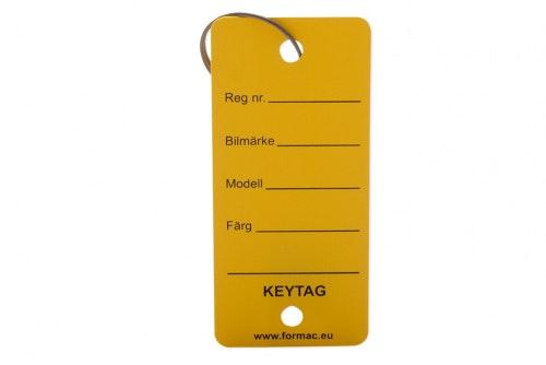 Keytag metallirenkaalla, keltainen