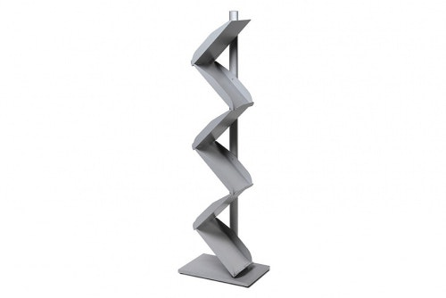 Zig Zag brochure stand - silver