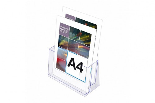 Leaflet holder A4, two tier