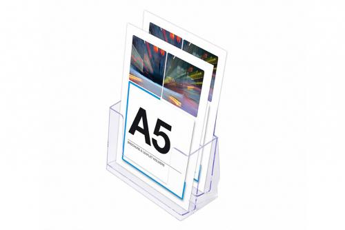 Brosjyreholder A5 med to nivåer