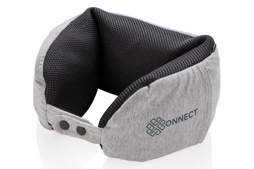 Travel pillow deluxe with print