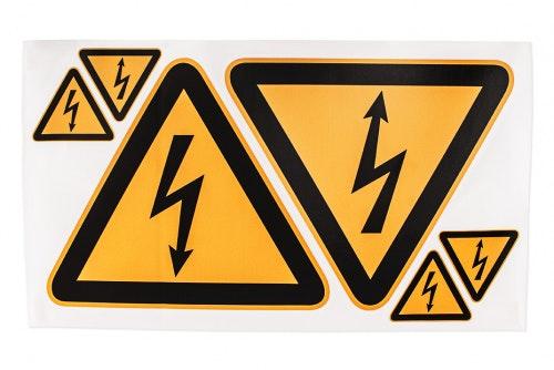 On-Off-On varoitustarrat hengenvaaralliselle sähköjännitteelle