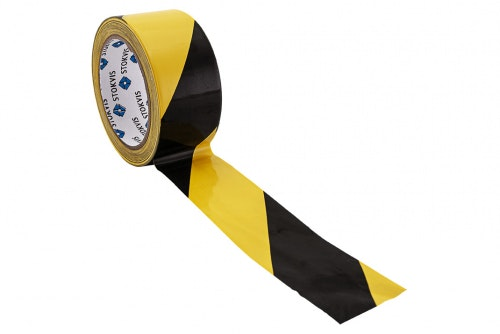 Floor marking tape yellow / black