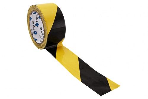Markeringstape til gulv gul/svart