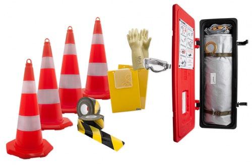 Säkerhetspaket för elbilshantering, utomhus
