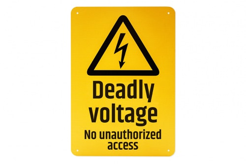 Warning sign wall - deadly voltage