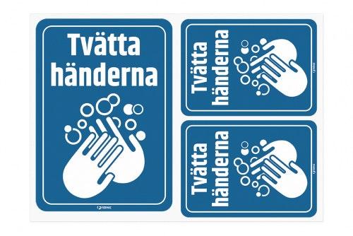 Tvätta händerna - dekaler