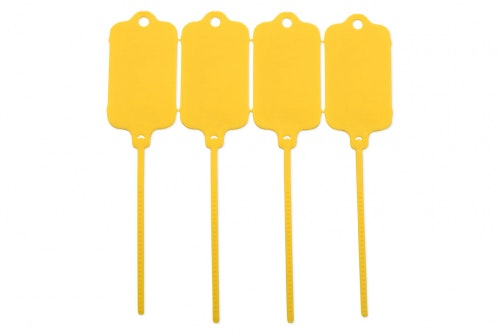 Keytag utan tryck, gul