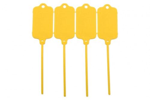 Keytag uten trykk, gul