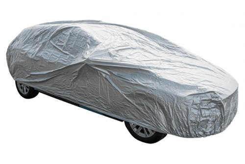Vehicle cover in nylon, gray