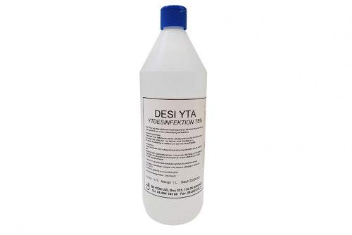 Overflatedesinfeksjon 75% 1 liter, 6-pakning