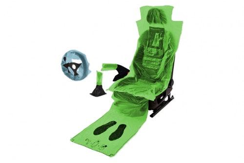 5 in 1 Istuin, matto, vaihdekeppi, käsijarru ja ratti suoja