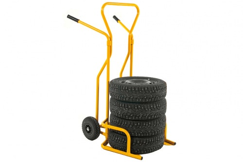 Tire trolley for transporting tires