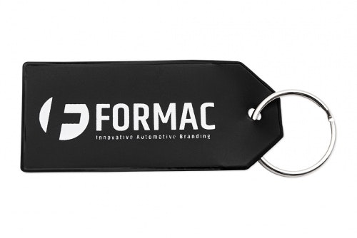 Key ring in PVC with 1-color print
