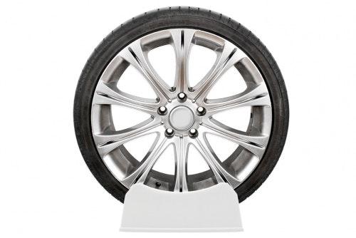 Displayställ däck, vit otryckt