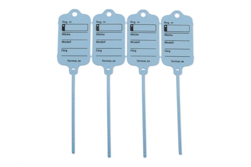 Keytag standard blå