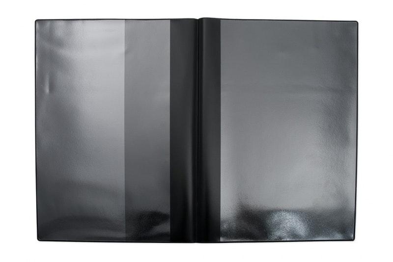 Fordonsmapp i svart plast, A5 med kundanpassat 1-färgstryck