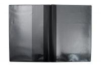 Fordonsmapp i svart plast, A5 med kundanpassat 2-färgstryck