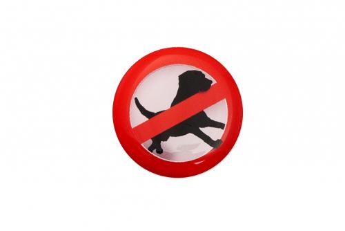 """3D-merkkilogo """"Ei eläimiä"""""""