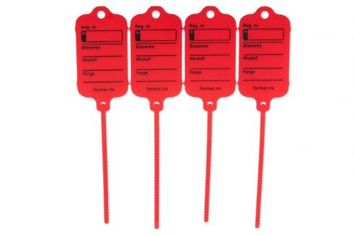 Keytag standard rød