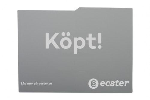 Car display grey, 1-color print, 2 sides