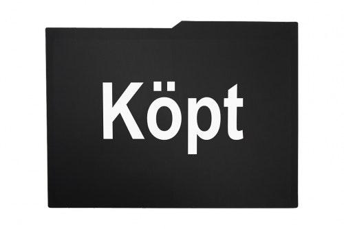 Car display black, 1-color print, 2 sides