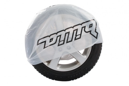 Tire bag white with 1-color print