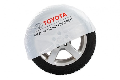 Tire bag white with 2-color print