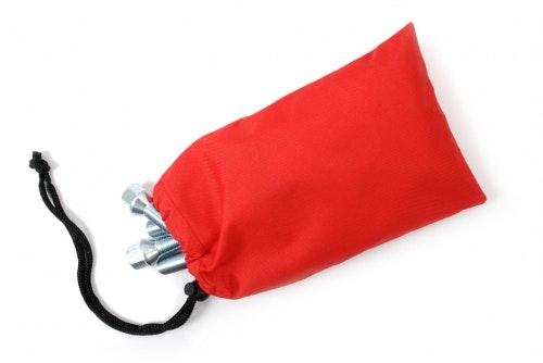 Wheel bolt bag red