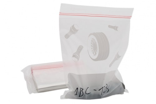 Wheel bolt bag plastic