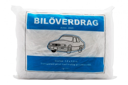 Car cover in plastic