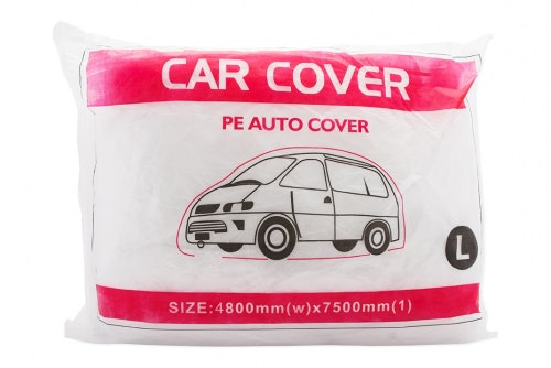 Car cover in plastic, large