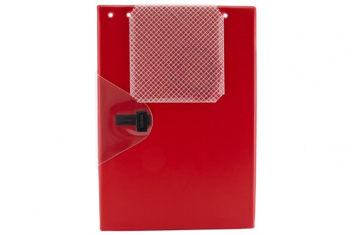 Work order folder large red