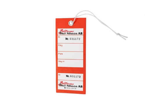 Key labeling with receipt 2-color print one side