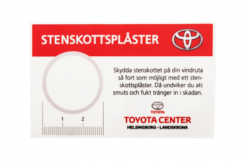 Windscreen plaster