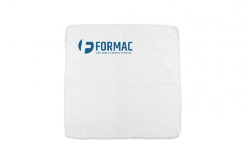 Microfiber cloth white with 1-color print