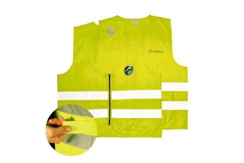 Hi-vis vest with print