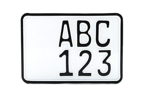 Display sign MC aluminium, embossed