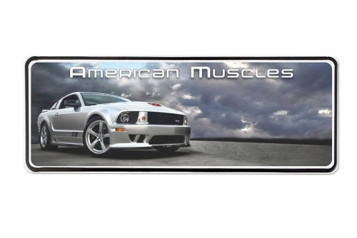 Display sign USA, foil decal