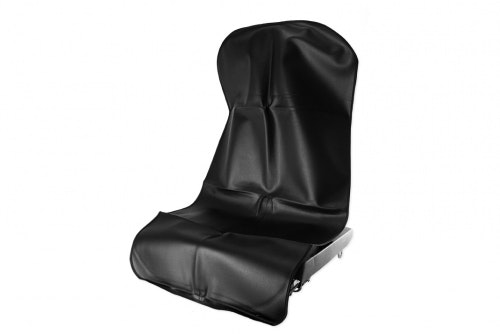 Seat protection in black artificial leather