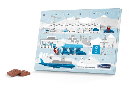 Klassinen Joulukalenteri painatuksella