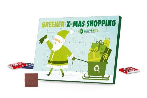Joulukalenteri 100% kartongkia, omalla painatuksella